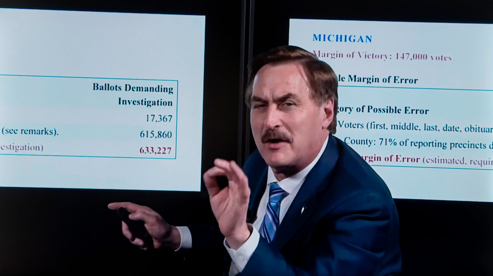February 06, 2021, Chaska, Minnesota, USA - MyPillow CEO MIKE LINDELL offers up a two-hour documentary about the 2020 p