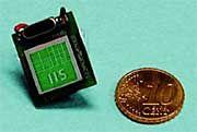 Chip der Fraunhofer-Forscher: Positionen auf den Zentimeter genau