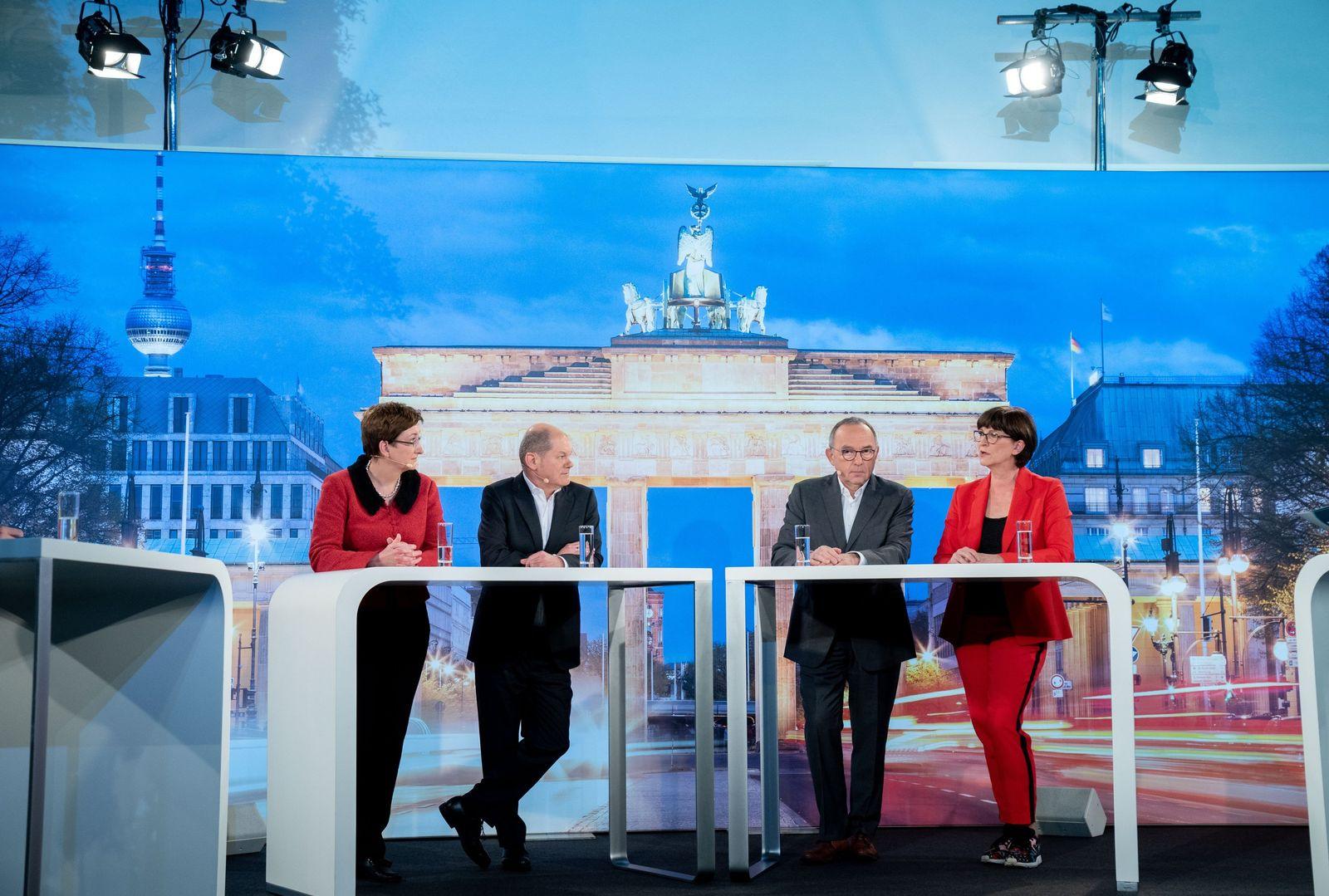 TV-Duell der Kandidaten für den SPD-Vorsitz - Lage
