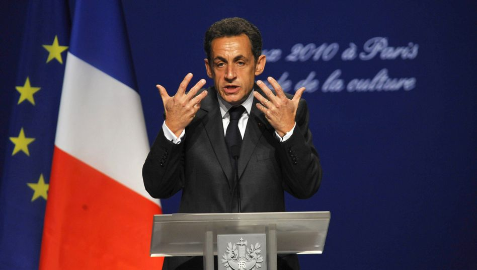 France's President Nicolas Sarkozy at the Cite de la Musique in Paris on Thursday.