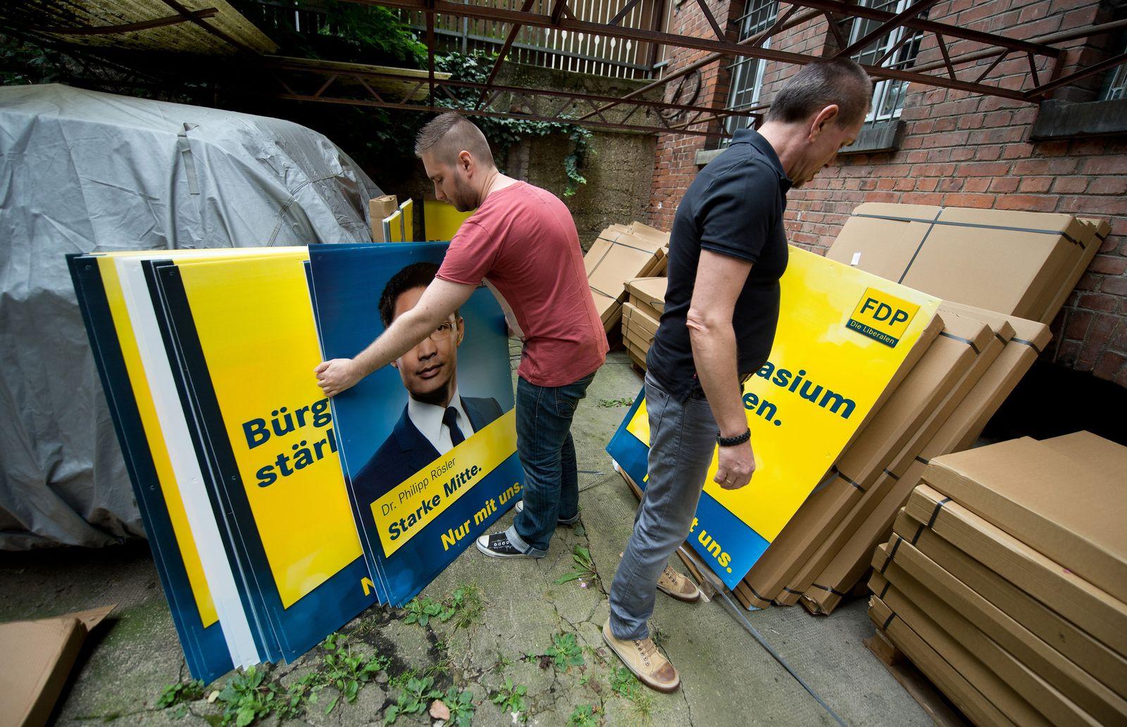 Plakate für die Bundestagswahl