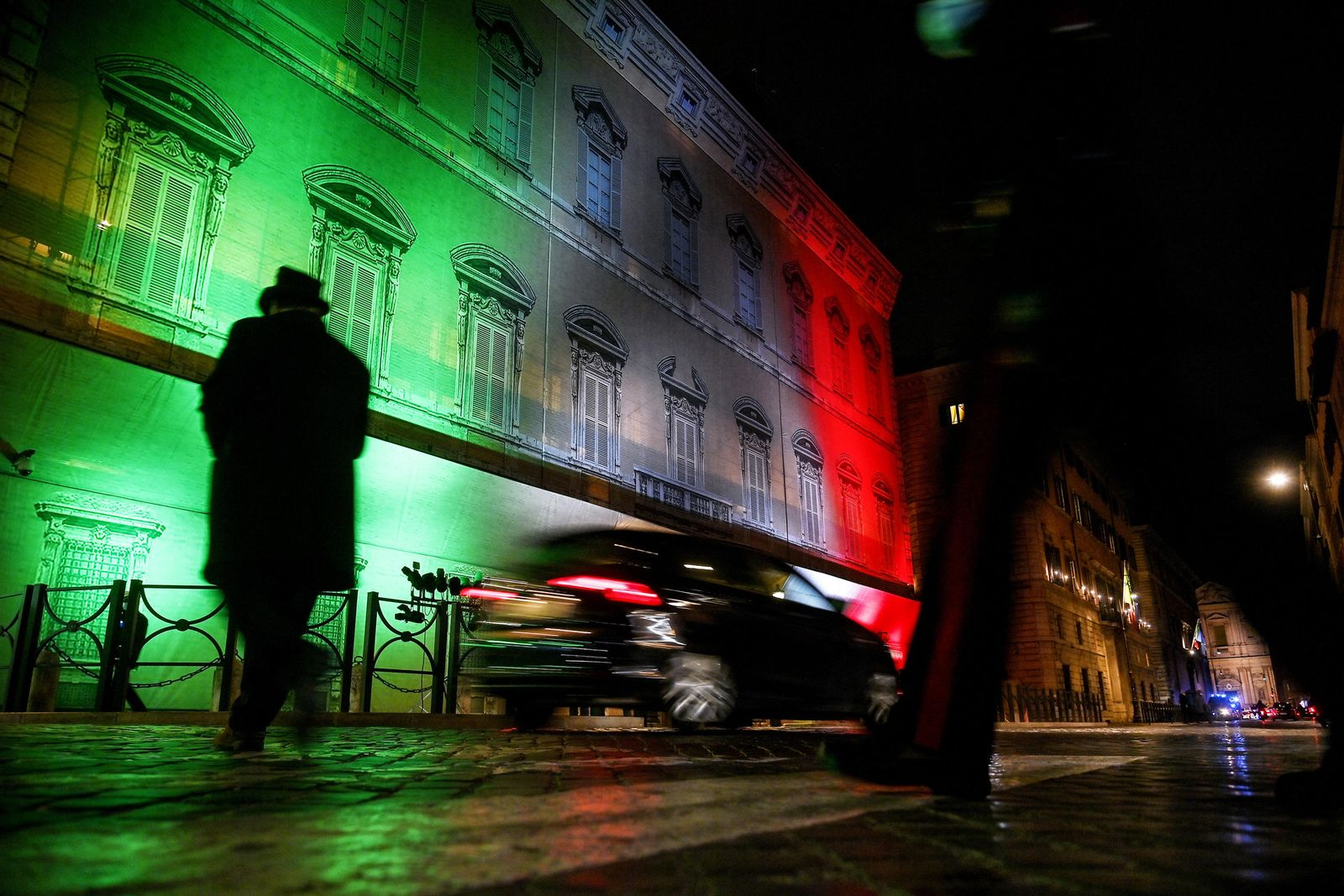 Mario Draghi's Government faces confidence vote at the Senate, Rome, Italy - 17 Feb 2021