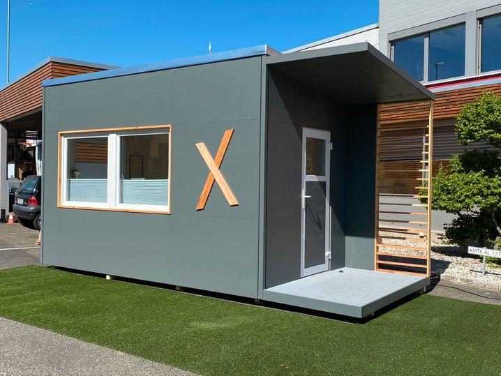 """Der """"Xtra-Raum"""": Laut Unternehmen das """"erste deutschlandweit erste mobile Homeoffice"""""""