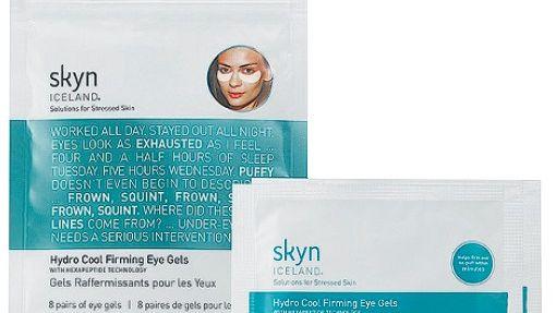 Skyn Iceland Die kühlende Augenmaske ist das beliebteste Produkt des isländischen Naturpflege-Labels. 8 x 3,2 g, ca. 30 Euro, über eu.feelunique.com