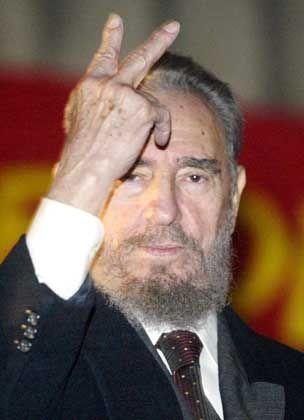 Misstrauisch: Fidel Castro