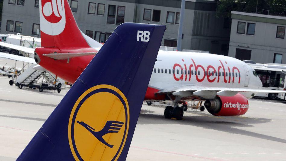 Maschinen von Lufthansa und Air Berlin