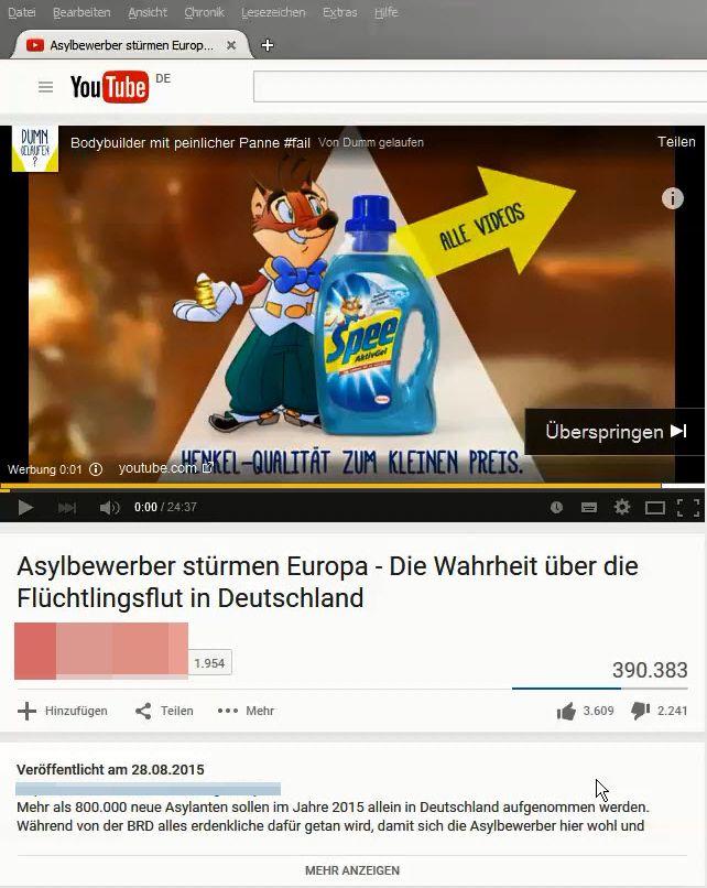 Henkel-Werbung vor Hassvideo (Archivbild)