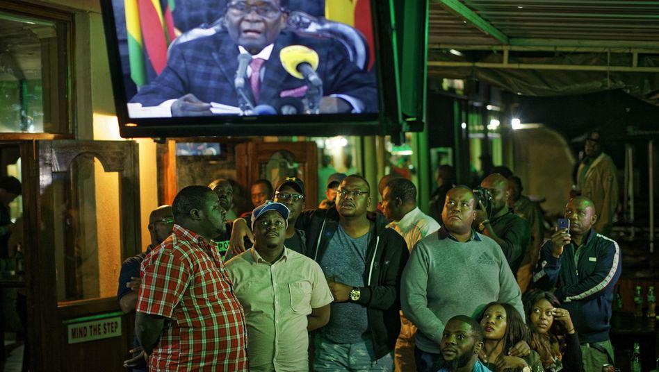 Übertragung der TV-Ansprache in Harare