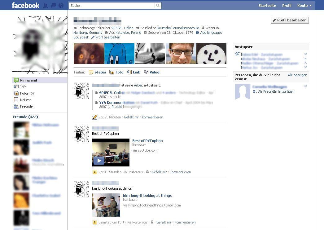 SCREENSHOT Facebook / Neugestaltung