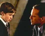 "Haley Joel Osment & Bruce Willis in ""The Sixt Sense"""