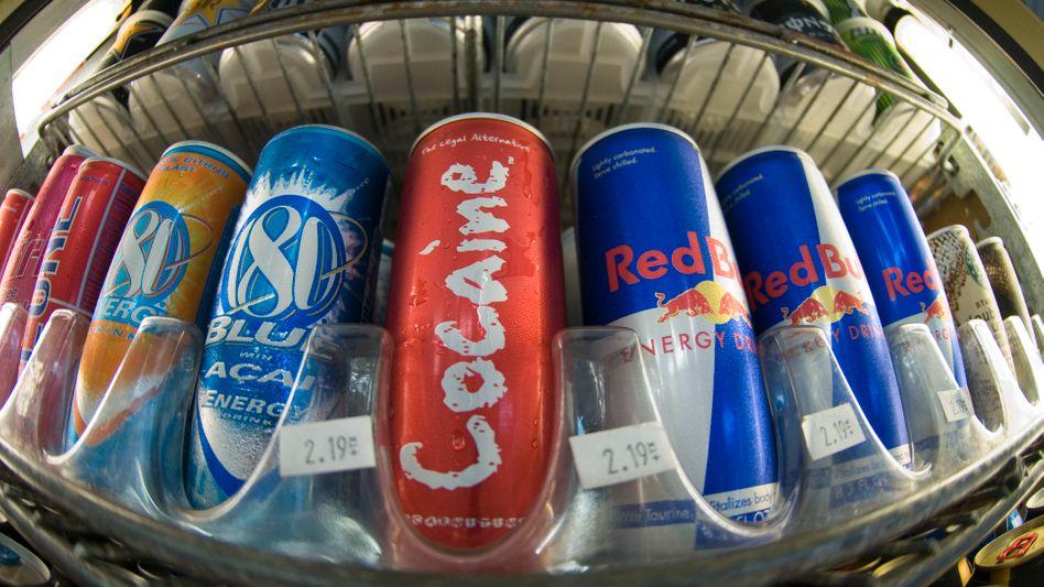 Hoher Koffeingehalt: Energy-Drinks in einem Laden in San Diego, Kalifornien
