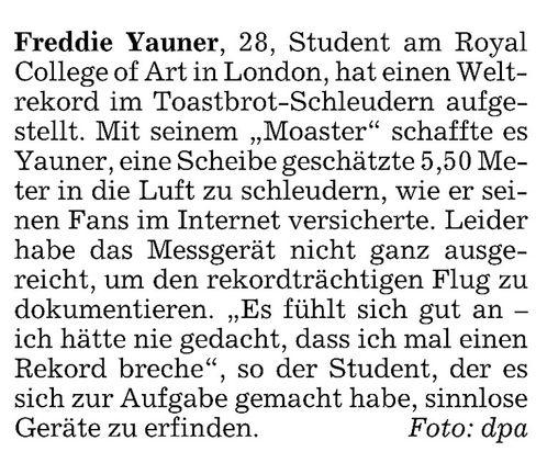 """Aus der """"Süddeutschen Zeitung"""""""