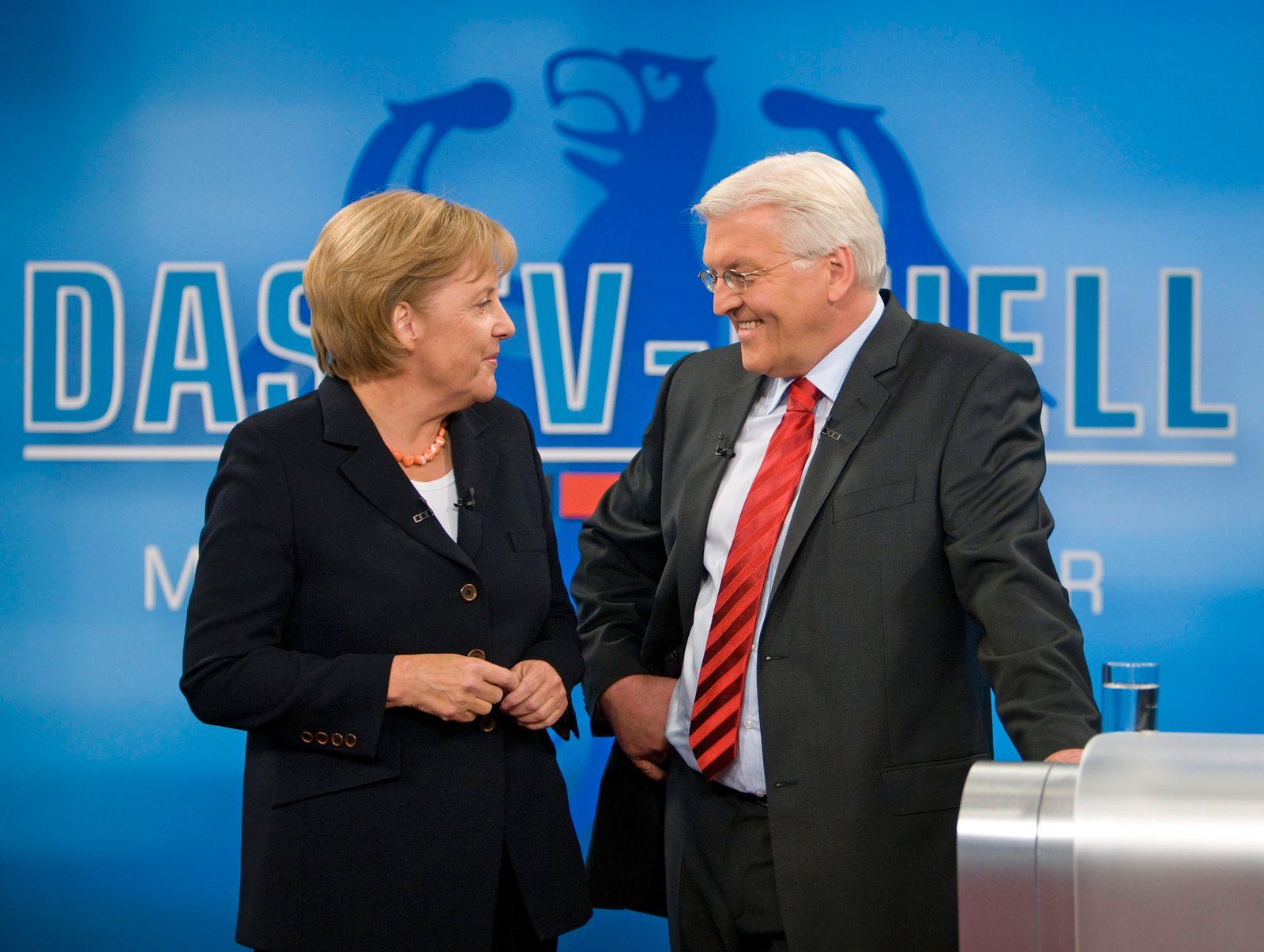TV-Duell Merkel Steinmeier