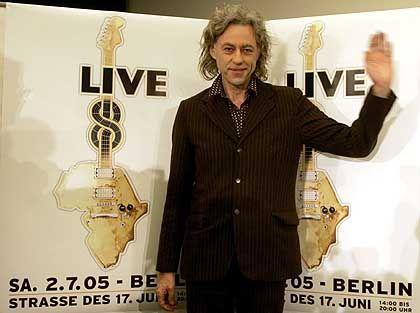 """""""Live 8""""-Macher Geldof: Mobiler Sozialarbeiter"""