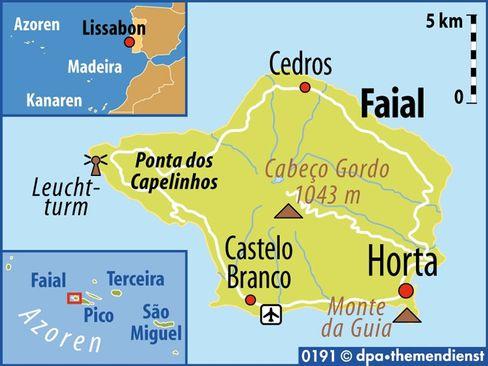Fünftgrößte Insel des Atlantik-Archipels: Faial gehört zur sogenannten Mittelgruppe der Azoren