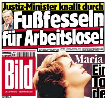 """""""Bild""""-Schlagzeile vom 28. April 2005"""