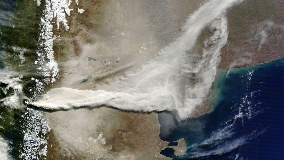 Vulkan Puyehu: Asche über Chile und Argentinien (Juni 2011)