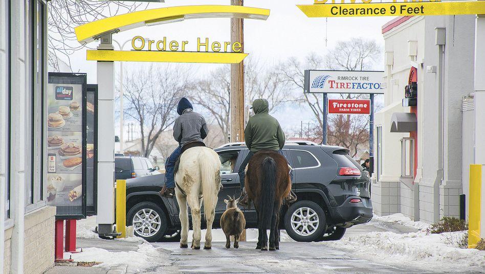 Reiter und Ziege
