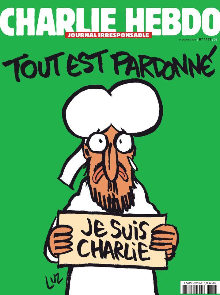 """Neue Ausgabe der französischen Satirezeitschrift """"Charlie Hebdo"""": Mohammed weint"""