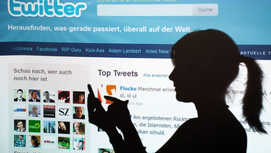 Twitter-Nutzerin: 100 Millionen aktive Nutzer klinken sich mindestens einmal im Monat ein