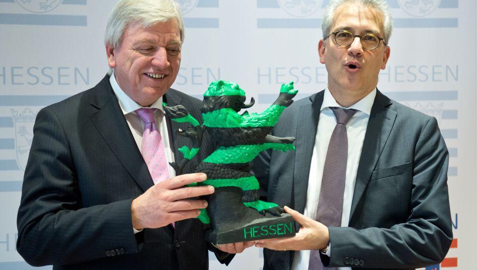 Hessens Ministerpräsident Volker Bouffier, Vize Tarek Al-Wazir