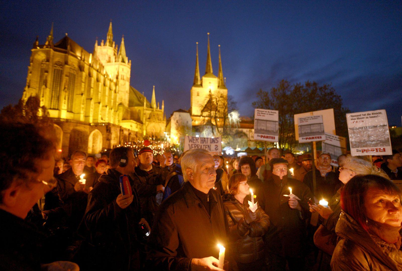 Protest gegen Rot-Rot-Grün Erfurt