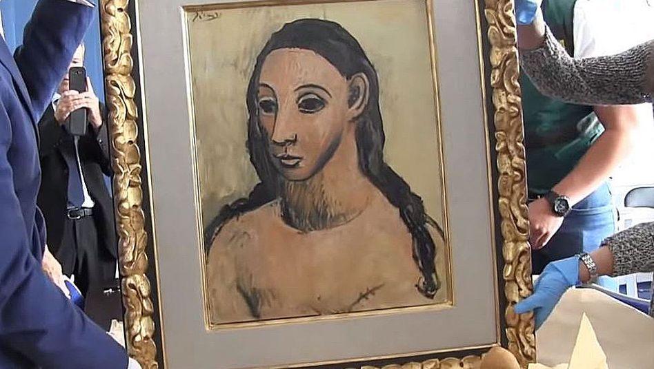 """""""Head of a Young Woman"""" è stato creato nel 1906 e proviene dal """"Periodo rosa"""" di Picasso"""