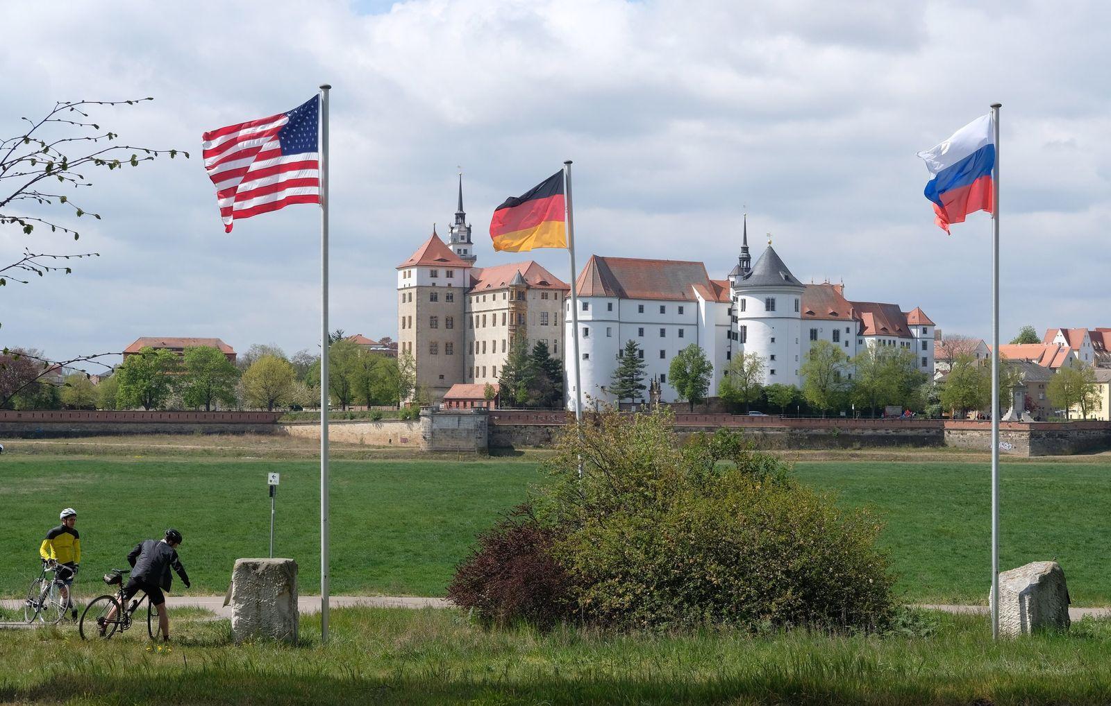 75. Jahrestag des Elbe-Day