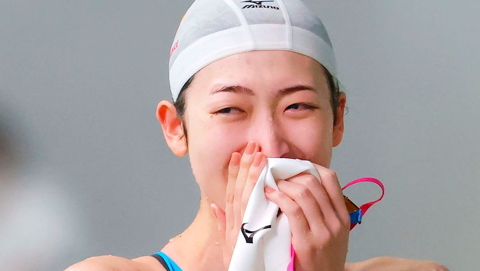 Rikako Ikee hat ihr erstes Rennen seit überstandener Leukämieerkrankung absolviert - im Tatsumi International Swimming Centre, der Schwimmarena für die Olympischen Spiele in Tokio