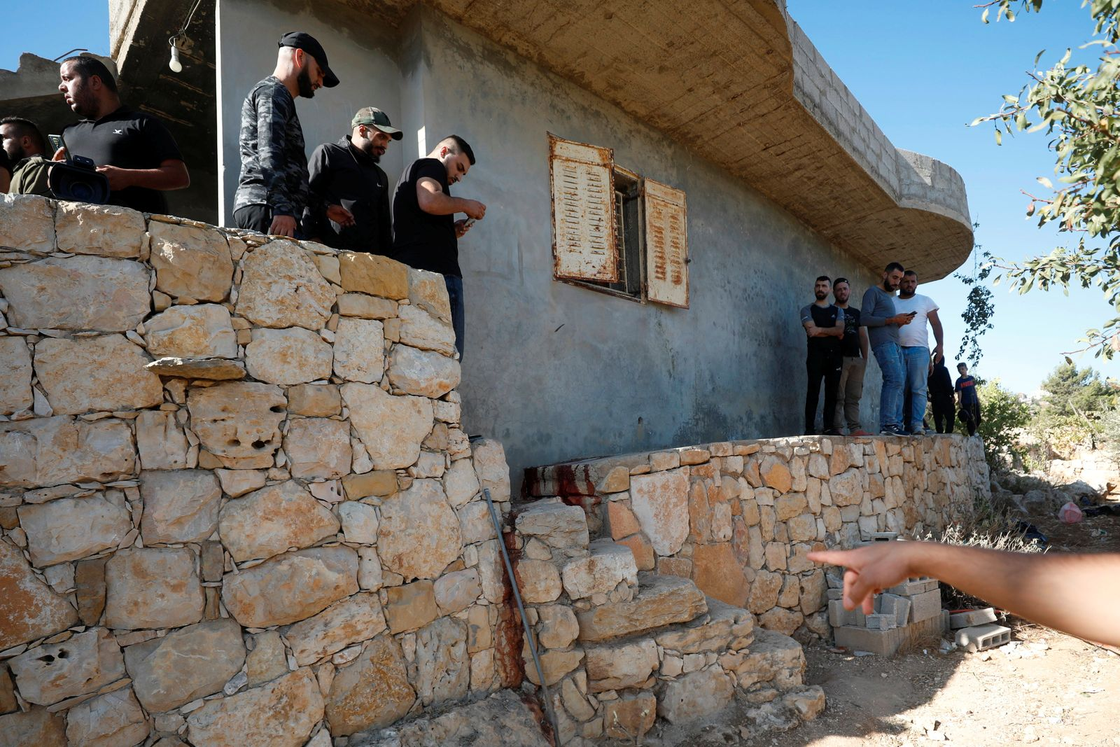 Scene where three Palestinians were killed by Israeli forces in West Bank