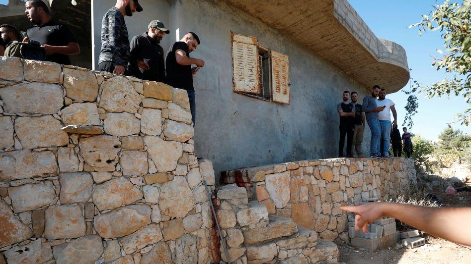 Nach der Razzia in der Nähe von Beit Anan im Westjordanland