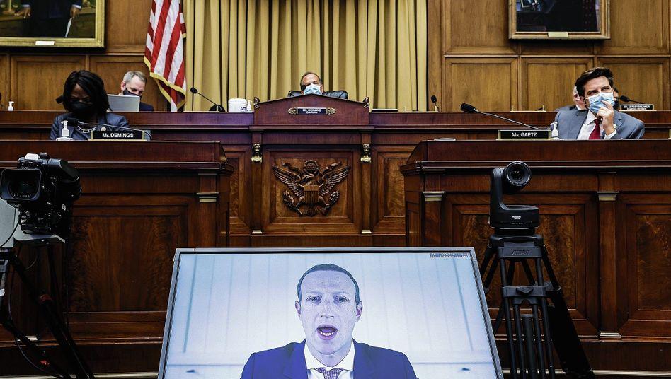 Anhörung vor dem US-Kongress: Videoschalte mit Mark Zuckerberg