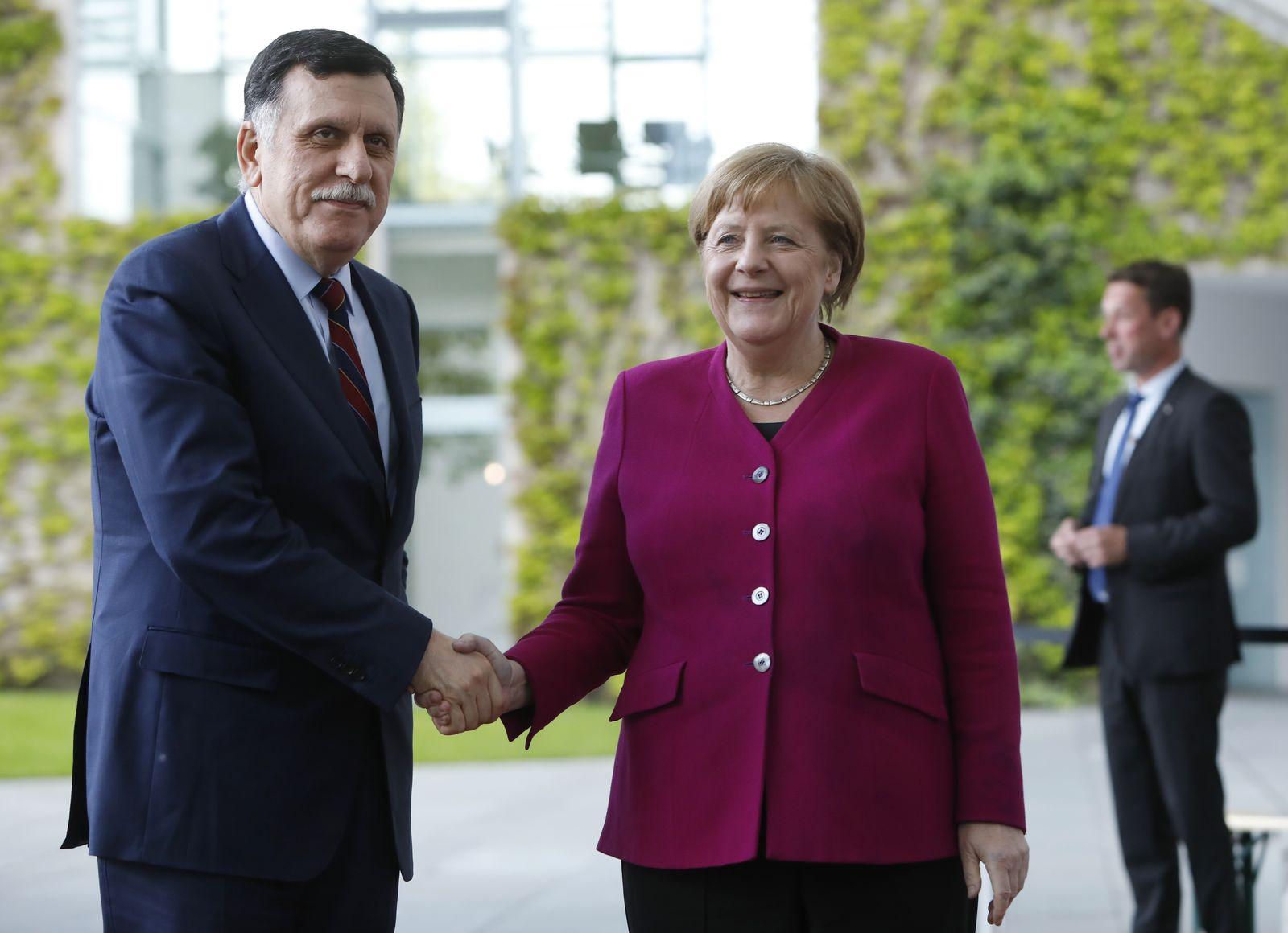 Al-Sarraj und merkel