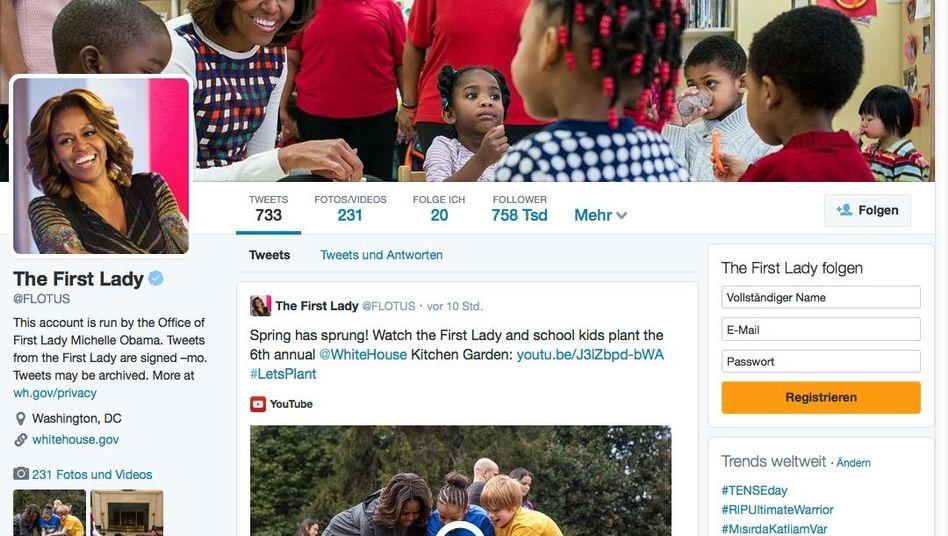 Neue Profilseite von Michelle Obama: Erinnert ein wenig an Facebook