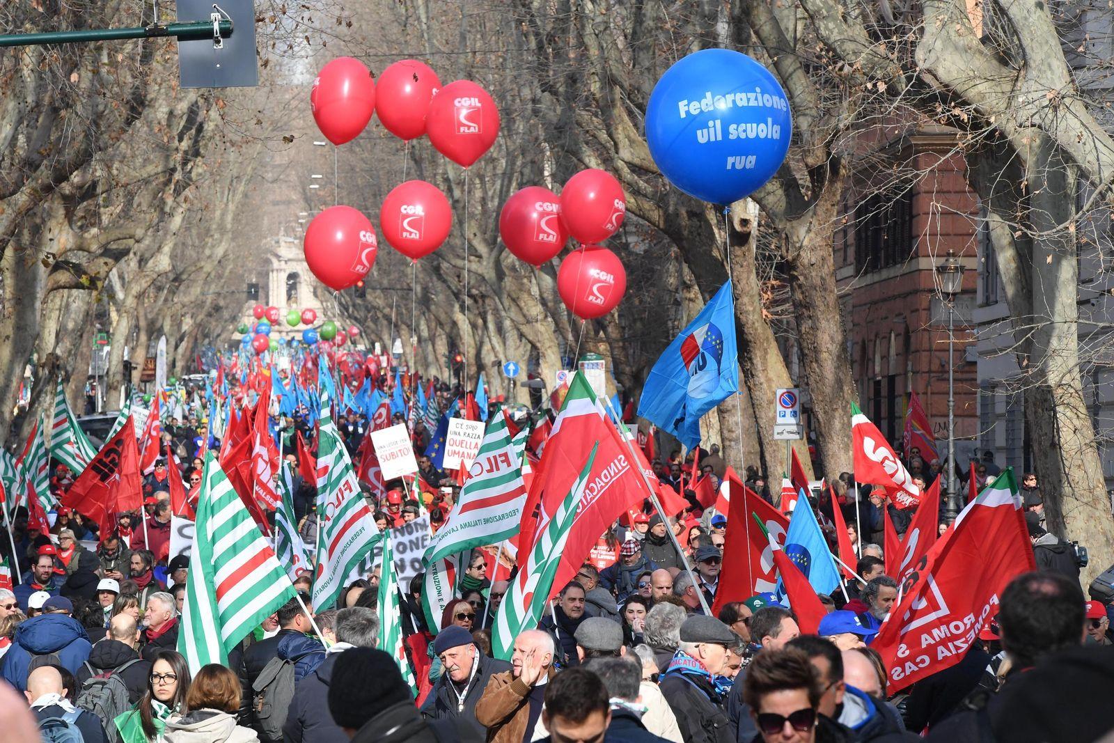 Italien Demonstration