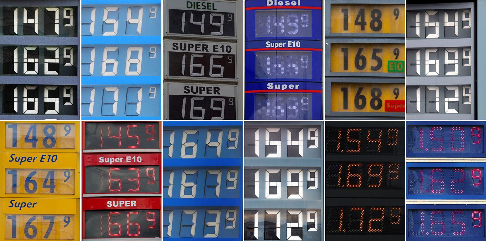 Benzinpreis / Meldestelle / Symbol