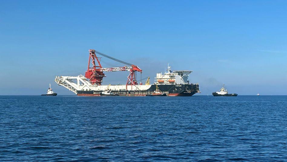 Das russische Verlegeschiff »Fortuna« hat die Baustelle in der Ostsee offenbar verlassen