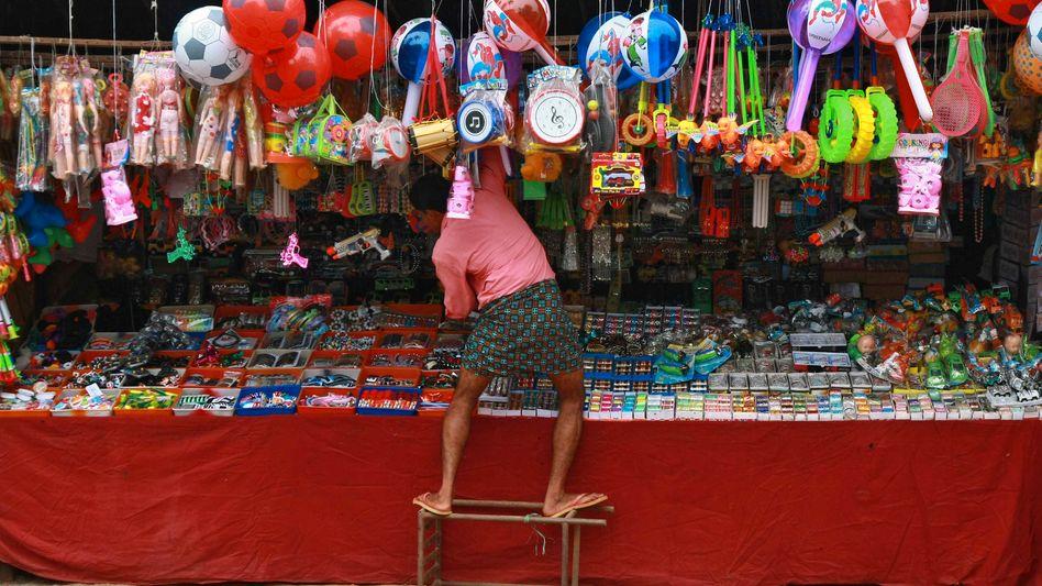 Spielzeugladen in der indischen Stadt Kochi: Wirtschaftswachstum von mehr als sieben Prozent