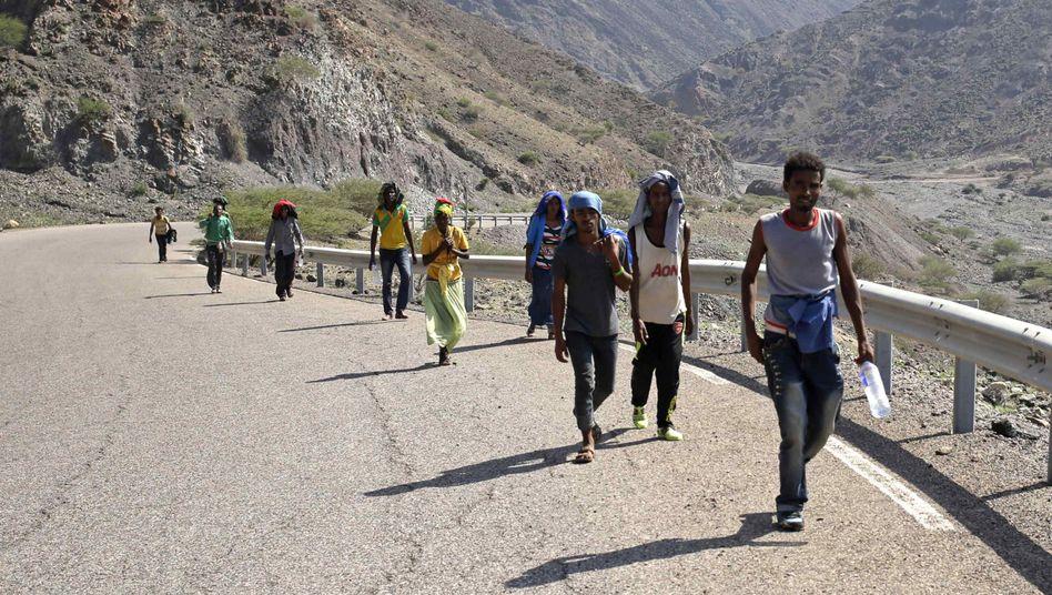 Migranten aus Äthiopien (in Djibouti, Februar 2015): In diesem Jahr kamen mehr als 134.000 Flüchtlinge aus Afrika in die EU
