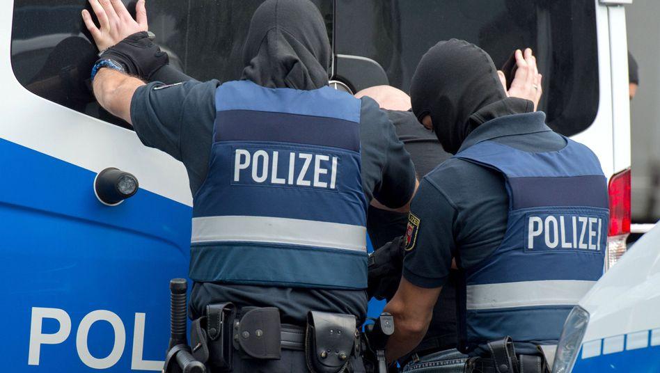 Polizeieinsatz gegen organisierte Kriminalität in Frankfurt (Archiv)