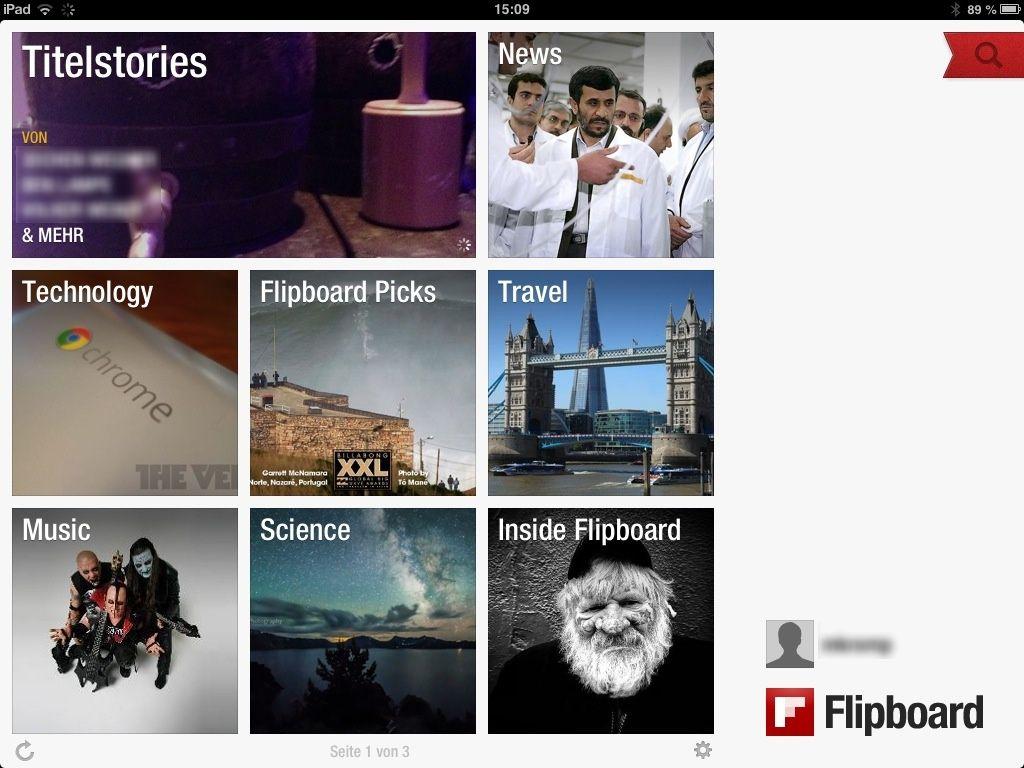 NUR ALS ZITAT Screenshot Flipboard