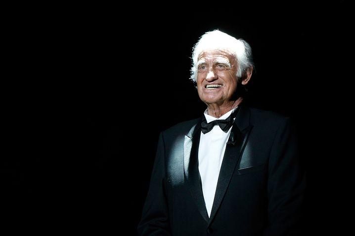 Belmondo bei der Verleihung des französischen Filmpreises »César« im Jahr 2017