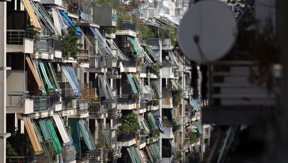 Balkone in Athen: Tausende Immobilienkreditnehmer im Rückstand