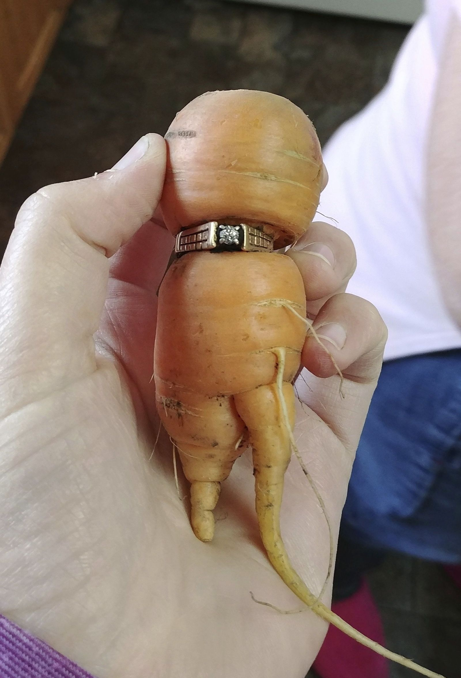 Carrot Engagement Ring