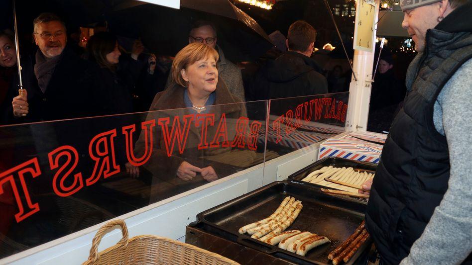 Angela Merkel auf dem Breitscheidplatz