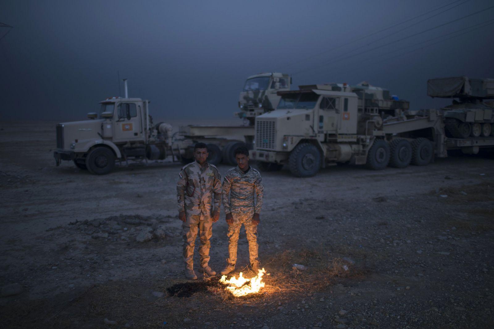 Irak / Mossul / irakische Soldaten