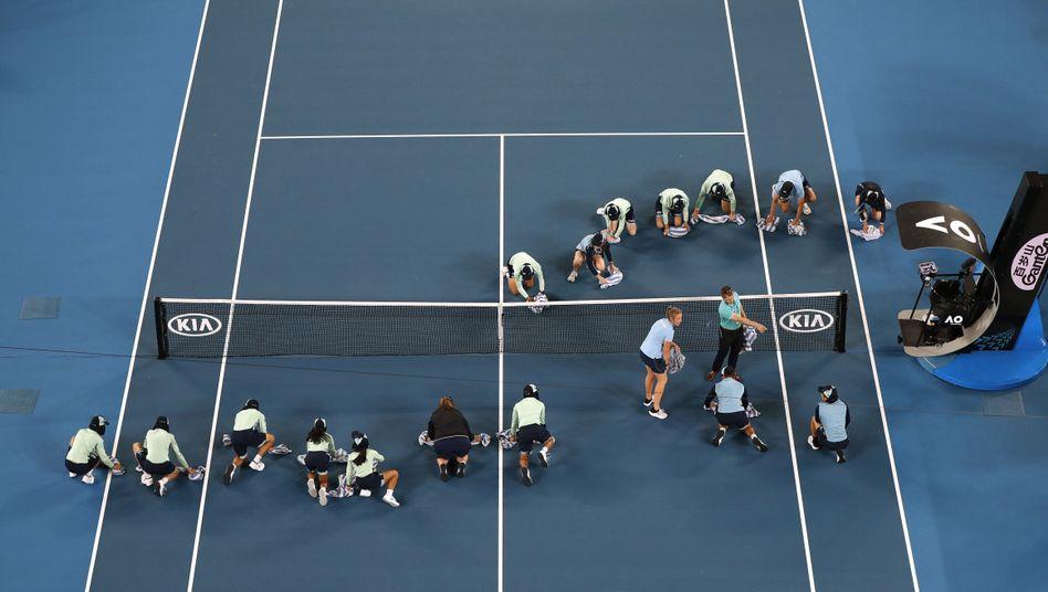 Australian Open und die Brände: Wie weggespült