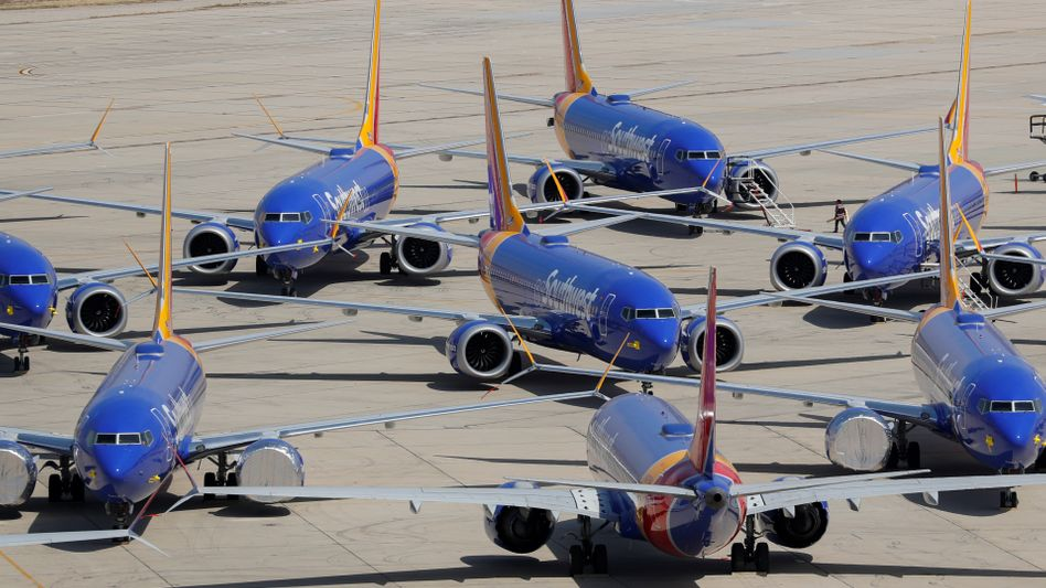 Archivbild von Maschinen des Typs Boeing 737 Max der Airline Southwest, die bereits seit Monaten nicht abheben dürfen. Der nun betroffene Flugzeugtyp 737 NG gilt als Vorgänger der Max