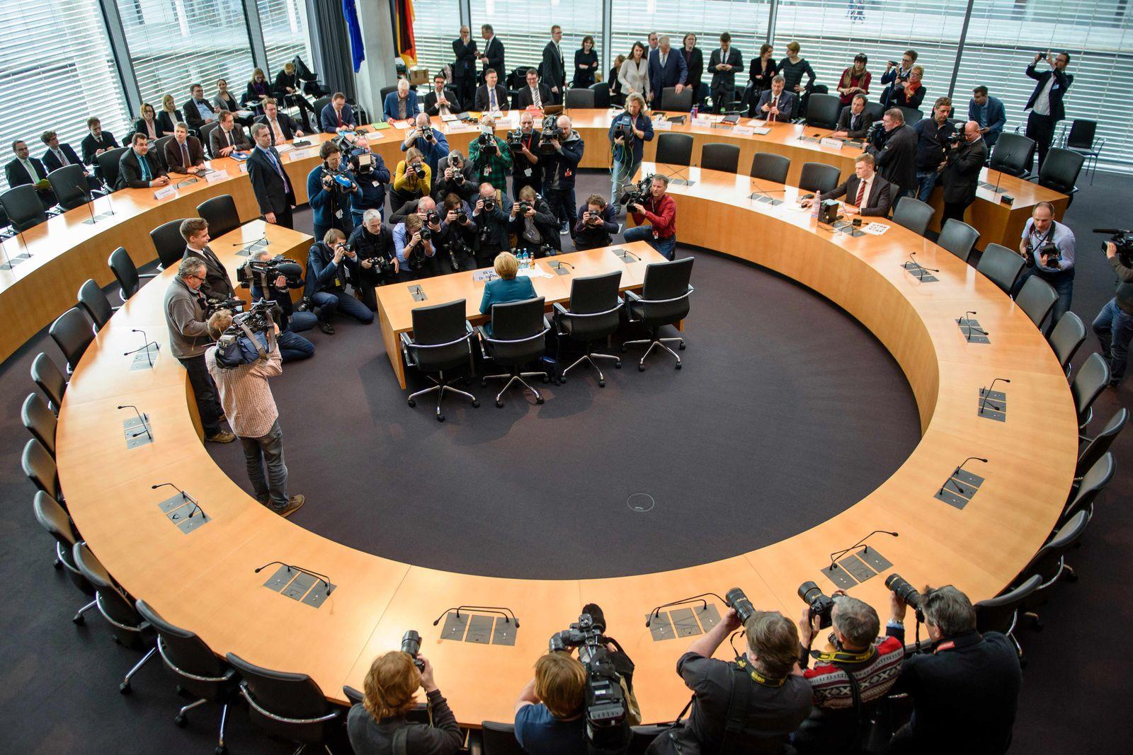 Merkel vor Abgas Untersuchungsausschuss