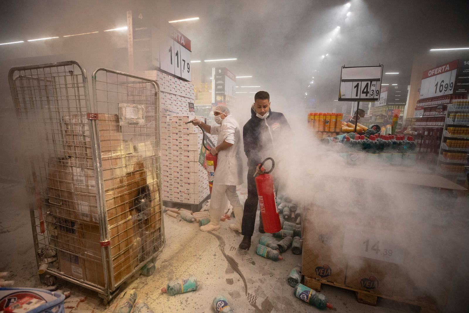 APTOPIX Brazil Supermarket Death